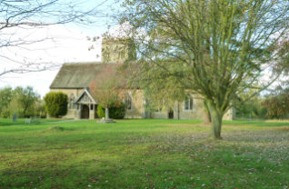Clungunford Church in the autumn